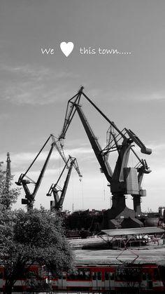 Wanna see the best places in Gdańsk? Come and visit us! We will help you choose the best way. / Möchten Sie die besten Orte in Danzig besuchen? Kommen Sie bei uns vorbei! Wir helfen Ihnen alles günstig zu organisieren. Danzig, Heavy Equipment, Tractor, Trailers, Abandoned, Technology, City, Top, Tecnologia