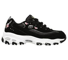 Skechers Women's D'lites Bright Blossoms Memory Foam Sneakers (Black/Multi)