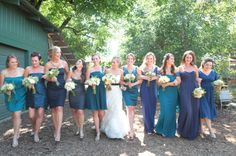 mix and match blues  Photography by leahleephotography.com, Floral Design by dragonflyhealdsburg.com