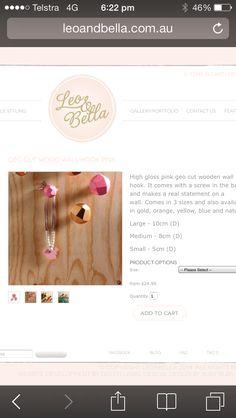 Wall hooks/ wardrobe knob from Leo and Bella