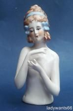ANTIQUE FASOLD & STAUCH NUDE LARGE PIN CUSHION HALF DOLL