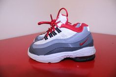 Nike Shoes 6.5C Gray White Red Air Max 95 Running Toddler Sneaker *311525-088 * #Nike #Athletic