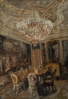 Ioana Batranu Melancholic interior, 1995 oil on canvas Modern Contemporary, Oil On Canvas, Tower, Romania, Painting, 21st, Interior, Rook, Computer Case