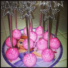 Princess cakepops with real wands.