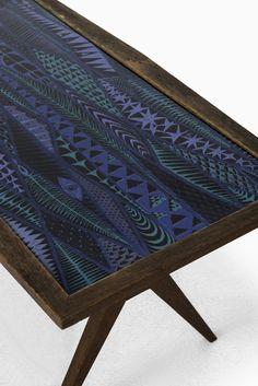 Stig Lindberg coffee table with enamel top at Studio Schalling