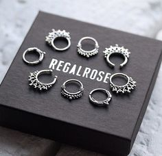 Amazing septum rings