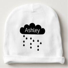 Shop rainy day minimalist unisex baby beanie created by BeautifulAndFree. Gender Neutral Baby, Baby Gender, Best Baby Gifts, Unisex Baby, Baby Hats, Personalized Gifts, Create Your Own, Minimalist, Beanie