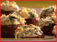 Hungry Girl's Four-Cheese Stuffed-Silly Mushrooms.  Yes, please!  3 mushrooms for 3 points plus!