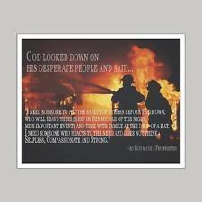 God Made A Firefighter Art Print