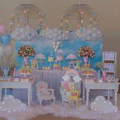 Unicorn Birthday Parties, Unicorn Party, Baby Birthday, First Birthday Parties, First Birthdays, Baby Shower Deco, Baby Shower Cakes, Baby Shower Themes, Cloud Party