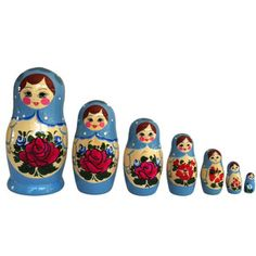 Star Nesting Doll Blue Set Of 7, 70€, now featured on Fab.
