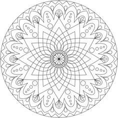 coloriage à imprimer mandala à motifs inspirés de la culture indienne