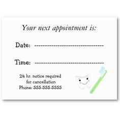 Dentist business appointment card pinterest business cards and dentist business appointment card pinterest business cards and card templates colourmoves