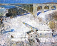 """High Bridge"" by Frederick Childe Hassam, 1922"
