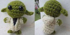 Free Mini Yoda crochet pattern