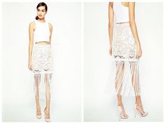 Midi Skirts – women fringed skirts--1550 – a unique product by abigaillee on DaWanda