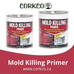 Corkco Mold Killing Primer is a water based fungicidal protective coating which can be used to paint over all existing mold, mildew, fungi and odor-causing bacteria. Primers, Ottawa, Fungi, The Good Place, Paint, Money, Canning, Water, Shop