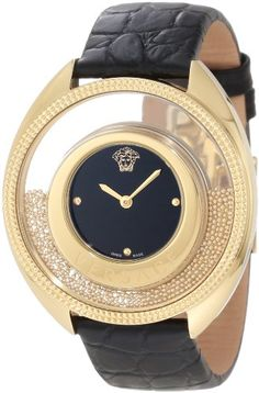 """Versace Women's 86Q70D008 S009 """"Destiny Spirit"""" Gold-Plated Watch with Leather Band Versace http://www.amazon.com/dp/B004HY1ZW2/ref=cm_sw_r_pi_dp_Uq2hub04YB5DV"""