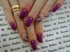 48 modelos de unhas decoradas com esmalte roxo New Nail Polish, Purple Nails, Nagel Gel, Love Makeup, Pretty Nails, Pedicure, Best Makeup Products, Nail Colors, Nail Art Designs