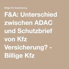 F&A: Unterschied zwischen ADAC und Schutzbrief von Kfz Versicherung? - Billige Kfz Versicherung - Jetzt vergleichen und sparen - Billige Kfz Versicherung