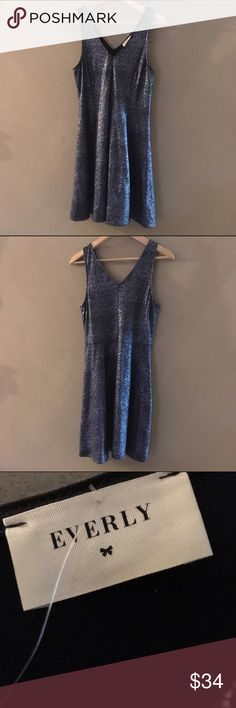NWT | Everly 'Elize' Sparkle Cocktail Dress / M NWT | Everly 'Elize' sparkly blue cocktail dress in a tagged size large; however, runs small and better suited for a TTS medium. Purchased at SF Bay Area's Therapy boutique. Everly Dresses Mini