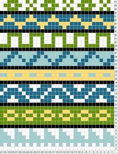 easy way to create your fair isle, folk scarf motif1
