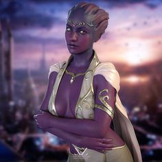 Asari Princess on Illium (Mass Effect) by Vizzee (this looks super valid! Mass Effect Characters, Face Characters, Sci Fi Characters, Wrex Mass Effect, Mass Effect Art, Alien Character, Character Art, Character Portraits, Mass Effect Universe