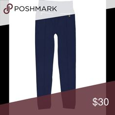 "ZIPPER ACCENT NAVY FLEECE LINED LEGGINGS Zipper embellishments add an edge to these versatile fleece lined leggings. Fits sizes 4 - 14. 25"" inseam. 90% polyester/10% spandex. Machine wash. Pants Leggings"