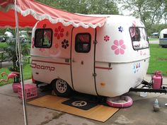 Not an Airstream, but too cute not to pin...Flower Power, Bay-Bee!