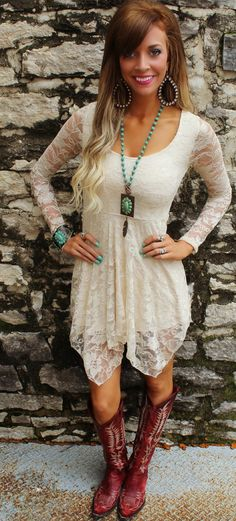 Get 10% off anything at The Lace Cactus with code KELSEYR10 Country Nights Lace Dress - The Lace Cactus