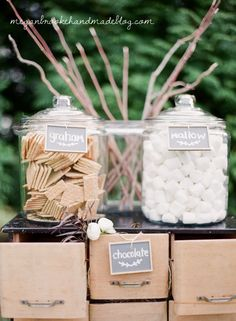 S'mores Station- Outdoor rustic farm wedding