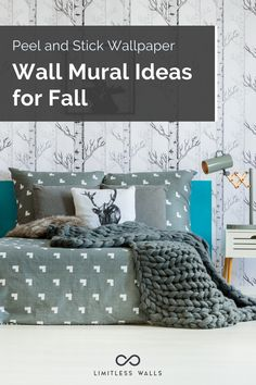 Keep your home decor seasonal with these 5 wall mural ideas for Fall. From an Autumn Dream, an Enchanted Woodland to Festive Foliage. Once winter arrives you have two choices: You can either continue enjoying the soothing effects of your Autumn wallpaper or peel it off, save it for next year! Fall decor ideas. Seasonal decor. Decor inspiration. | Limitless Walls - Premium Wall Murals Childrens Wall Murals, Custom Wall Murals, Removable Wall Murals, New Interior Design, Interior Design Inspiration, Wall Wallpaper, Peel And Stick Wallpaper, Mural Ideas, Decor Ideas