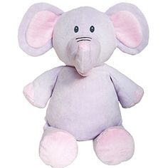 "Purple Elephant measures 16"" from head to toe and has a removable stuffing pouch allowing embroidery directly on the animal. The Cubby has two removable pods - from the head and body.  The ears can also be embroidered on the Elephant.  $12.95"