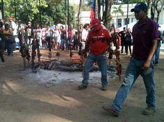 Carne en vara en pleno centro de Caracas