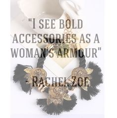 I see bold accessories as a women's armour Rachel Zoe Rock it like royalty www.rockitlikeroyalty.com