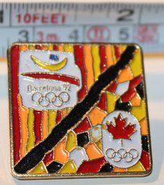 1992 Barcelona Summer Olympics Team Canada Collectible Pin