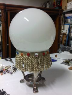My latest Crystal Ball - last night's project Lights up using a battery operated push light from DT.