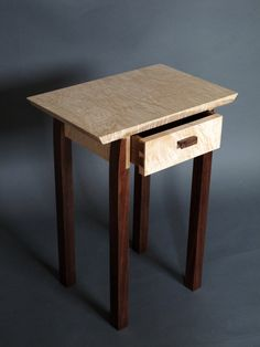 Mid Century Modern Accent Table with Drawer in by MokuzaiFurniture, $650.00