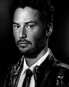 ♂ Black and white photography man portrait actor Keanu Reeves