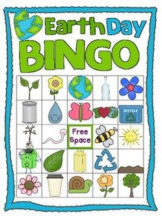 Bingo game boards for Earth Day!