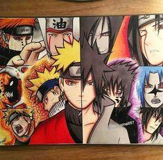 Naruto Vs Sasuke, Anime Naruto, Naruto Fan Art, Naruto Cute, Naruto Shippuden Anime, Boruto, Naruto Drawings, Naruto Sketch, Anime Drawings Sketches