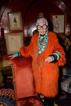 Iris Apfel.... the queen of it all in my fashion world
