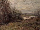 The Roches-Courtaut Wood, near By - Alfred Sisley - www.alfredsisley.org