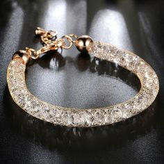 Luxus Armband Armreif Armkette Vintage Antik Gold Glas Deutschland Elastisch