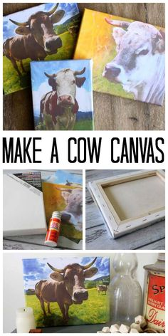 Make a cow canvas wi