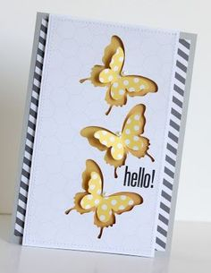 My creative Corner: Cute butterfly card - use combination of punches/framelits