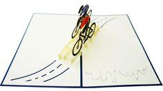 Bicycle Race 3D Pop-Up Card Pop Out Cards, Bicycle Cards, Bicycle Race, Pop Up, Transportation, Christian, 3d, Popup, Christians