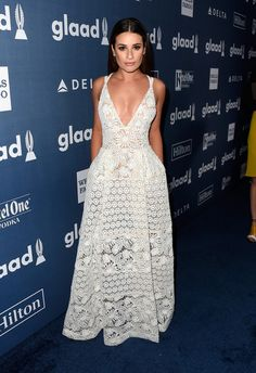 Lea Michele at the GLAAD Media Awards - The Most Beautiful Gowns of 2016…