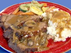 Meatloaf recipe from Throwdown with Bobby Flay via Food Network