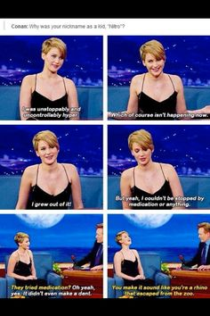 Still a bit hyper Jennifer.